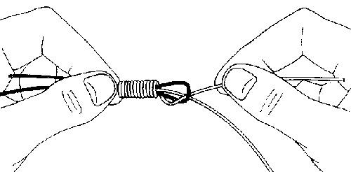 нахлыст как привязать шнур и поводок
